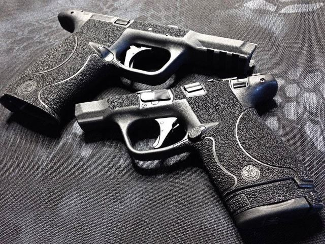 M And P Shield Custom How to Stipple Your Ha...