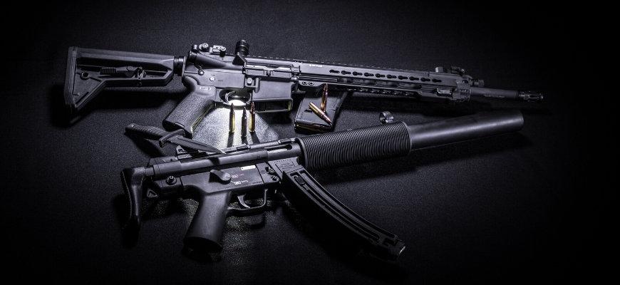 Best 300 Blackout Pistol - Two pistols in a black background.