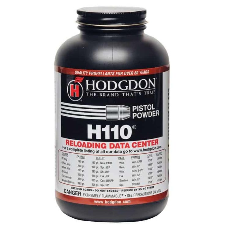 HODGDON POWDER CO., INC. - HODGDON H110 POWDER