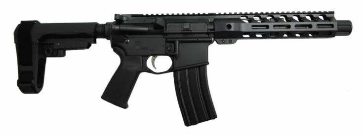 """PSA 7.5"""" M-LOK Moe EPT Pistol in a white background."""