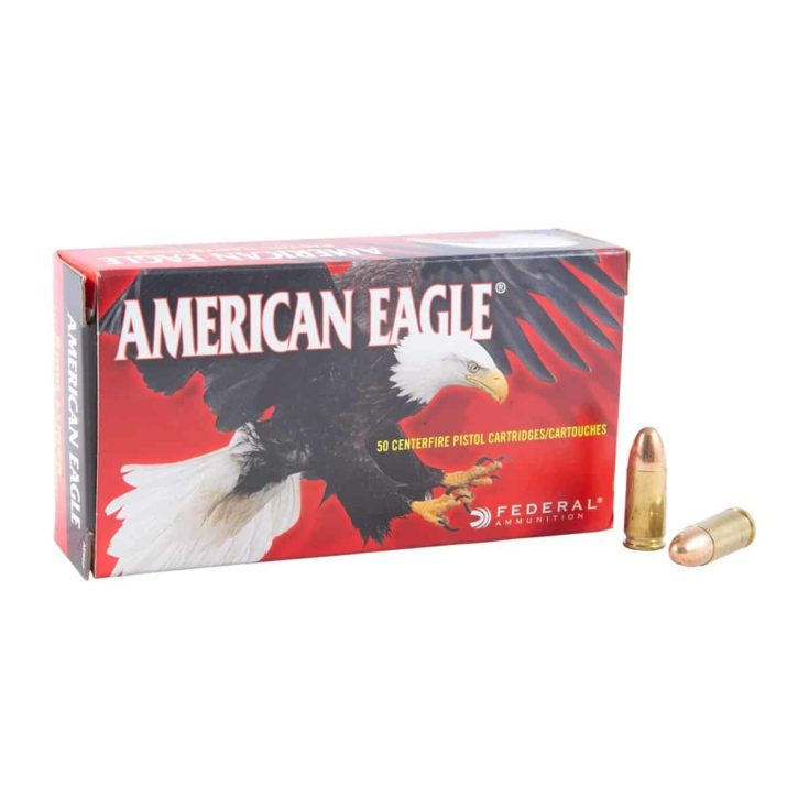 AMERICAN EAGLE - AMERICAN EAGLE AMMO 9MM LUGER 115GR FMJ AMMO