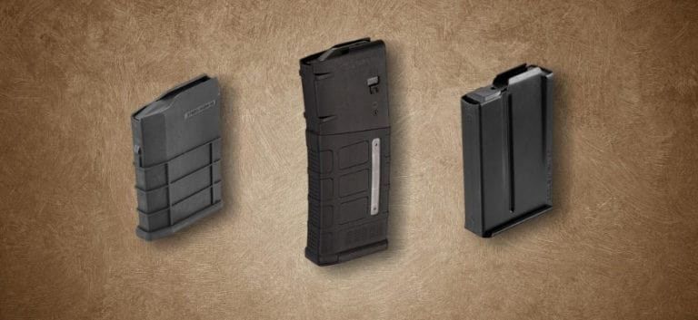 Three 6.5 Creedmoor Magazine in brown background