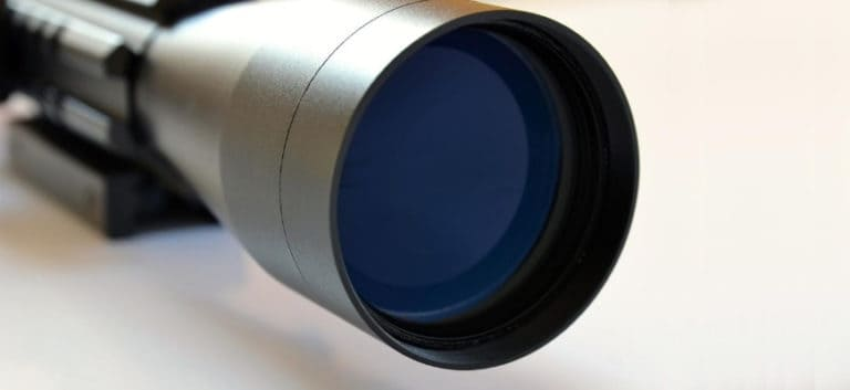 Focus shot of a riflescope.