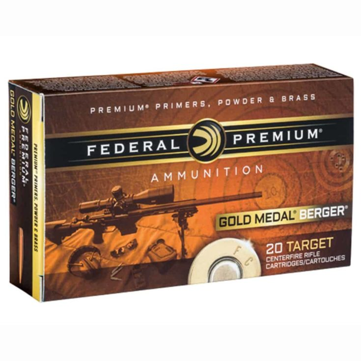 FEDERAL - GOLD MEDAL BERGER AMMO 6.5 CREEDMOOR 130GR BERGER HYBRID OTM