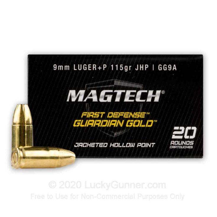 9mm - +P 115 Grain JHP - Magtech Guardian Gold - 20 Rounds