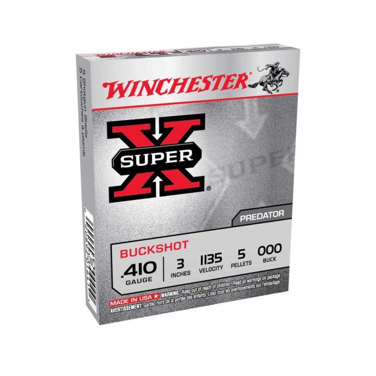 WINCHESTER - SUPER-X BUCKSHOT AMMO 410 BORE 3